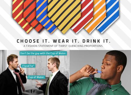 Фляжка и галстук в одном флаконе