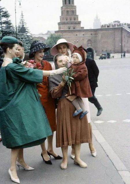 50-е. Показ Christian Dior в Москве.