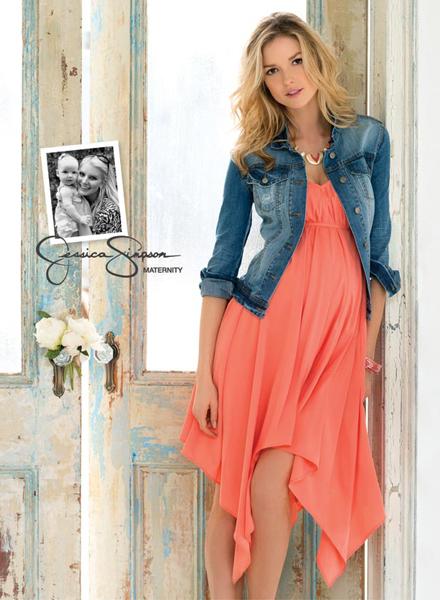 Коллекция одежды для беременных от Jessica Simpson