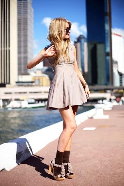 Присобранные длинные носочки — самая популярная модель