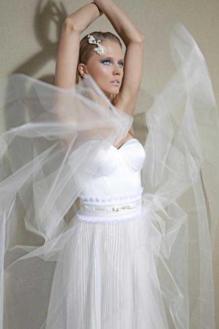 Свадебный сезон 2012: свежая кутюрная коллекция Дани Мизрахи — фото 15