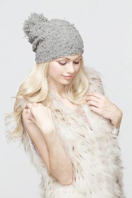 Стильные вязаные шапочки от Éffré: коллекция осень-зима 2012-2013 — фото 12