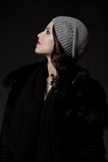 Стильные вязаные шапочки от Éffré: коллекция осень-зима 2012-2013 — фото 9
