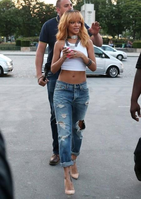 Рианна в boyfriend jeans