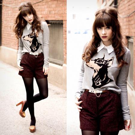 Шерстяные шорты: с чем носить