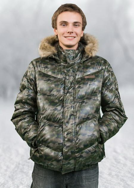 Куртка с комуфляжным принтом