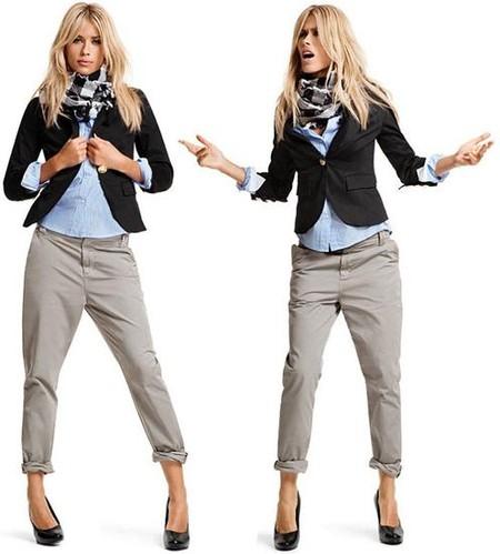 Практичные и универсальные брюки-чинос