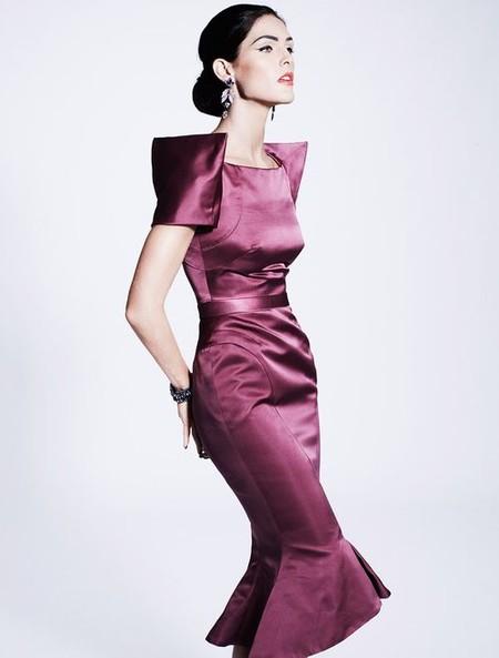 Атласное платье Zac Posen