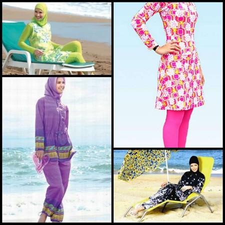 Некоторые модели буркини напоминают спортивный костюм