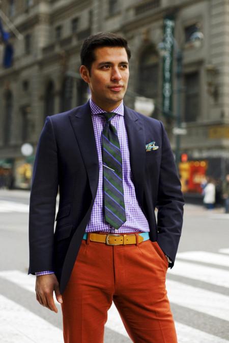 Житель Нью-Йорка, одетый в стиле преппи