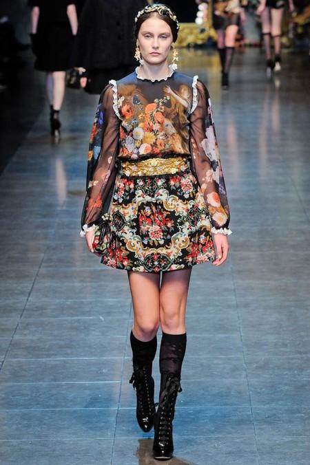 Мода на роскошь: стиль барокко в коллекциях осень-зима 2012-2013 — фото 16