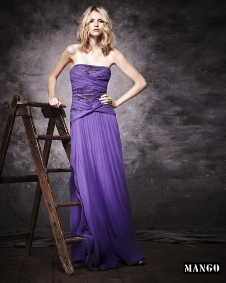 Фиалковое макси-платье