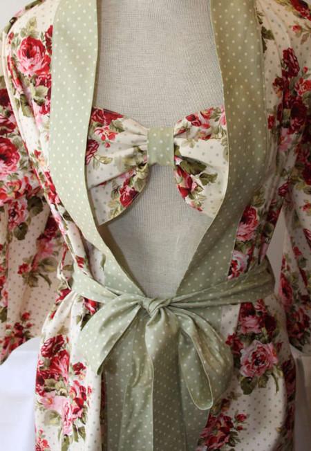Халат-кимоно и лиф с бантом
