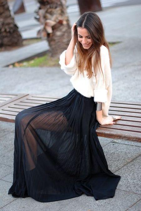 Прозрачная юбка одна из самых