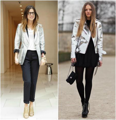 Как носить металлизированные вещи — варианты любителеьниц уличной моды