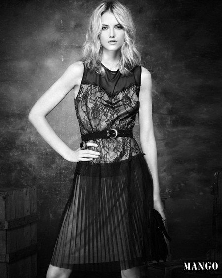 Коктейльное платье с юбкой-плиссе