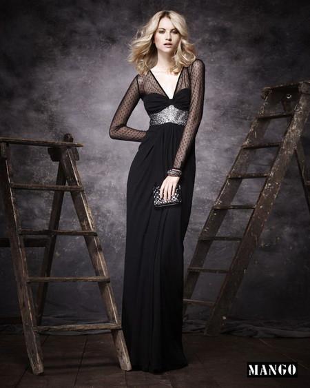Черное платье для особых случаев от Mango