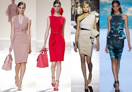 Платья-футляры в весенне-летних коллекциях 2013