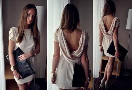 Элегантное платье с декальтированной спиной