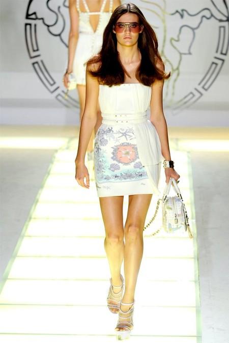 Платье Versace с морским принтом