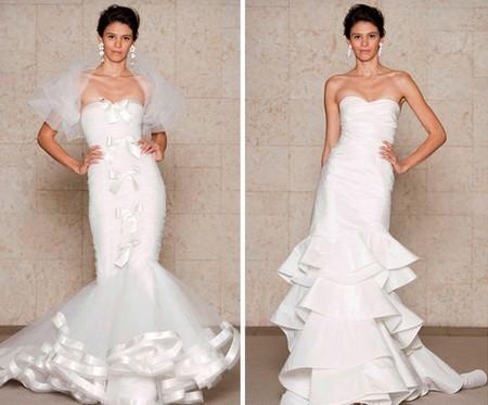 Платье в стиле русалка от Oscar de la Renta