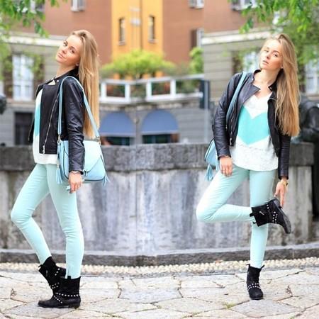 Поклонница мятного цвета Дарья Камалова — фэшн-блоггер из России