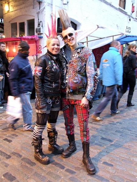 Представители стиля панк