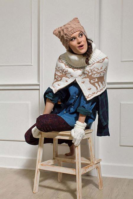Изделия Imojo украшены фактурной вязкой и яркими узорами