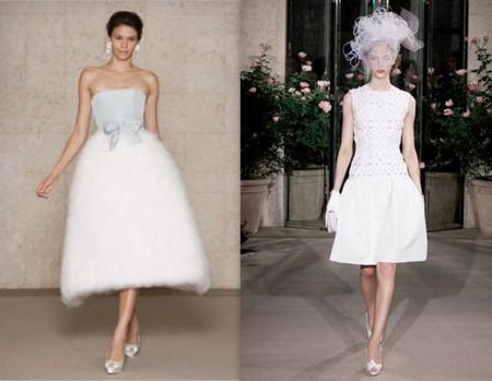 Свадебные платья в духе 50-х от Oscar de la Renta