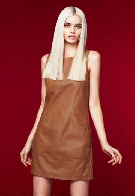 Локаничное кожаное платье Portmans