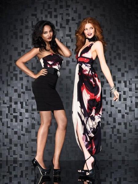 Платье с верхом-бандо и макси-платье
