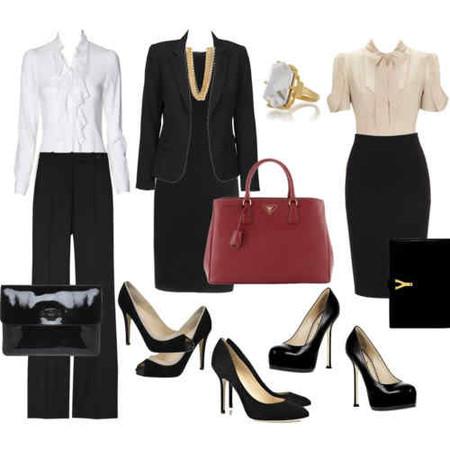 Пример делового капсульного гардероба