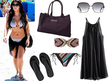 Пляжный комплект Ким Кардашьян