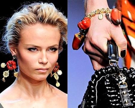 Украшения с фигурками овощей Dolce&Gabbana