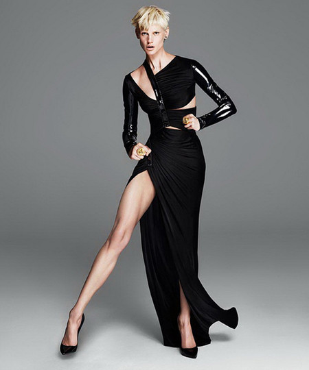 Саския де Брау в рекламной кампании Versace