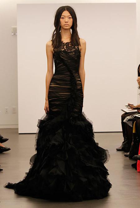 Черные свадебные платья-русалки