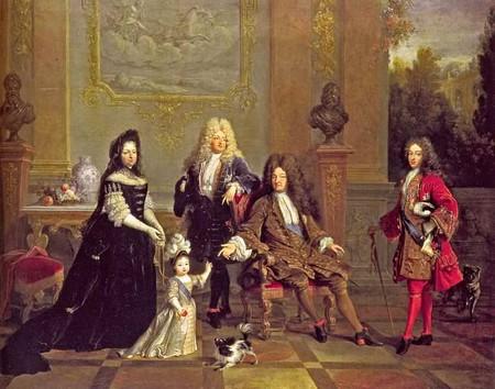 Людовик XIV со своей семьей