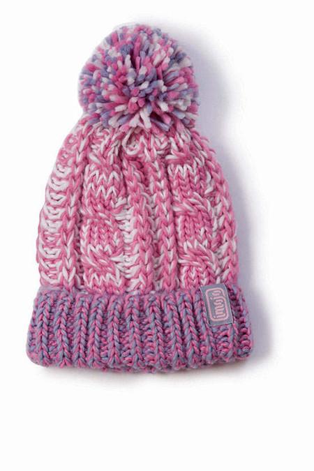Модные вязаные шапки с помпонами Imojo