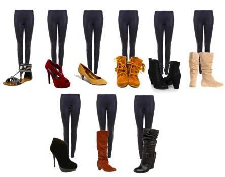 Обувь, подходящая для леггинсов