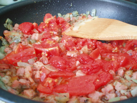 Паста хенд мейд или паппарделле в томатном соусе — фото 9
