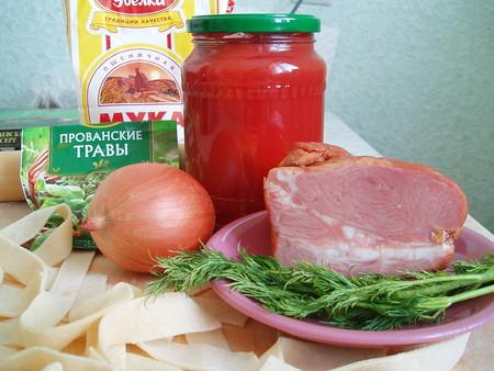 Паста хенд мейд или паппарделле в томатном соусе — фото 3