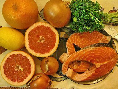Семга в грейпфрутовом соусе «коралловый сироп» — фото 2