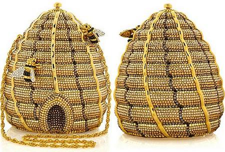 Удивительная и неповторимая сумочка Beehive Clutch от Judith Leiber, сделанная в виде пчелиного улья! — фото 1