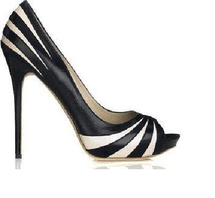 """черно-белые """"радуга"""" туфли"""