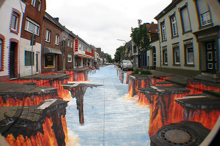 О Street paiting или трехмерном рисовании на асфальте — фото 15