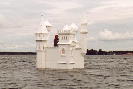 Замок из полистирола