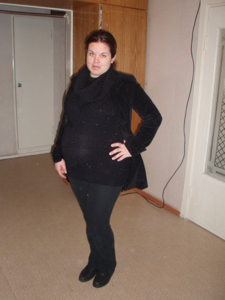на 8 месяце беременности
