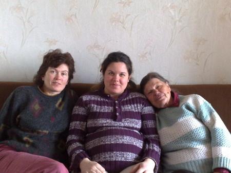 За 2 недели до родов. С мамой и бабушкой