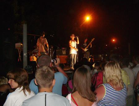выступление рок-коллектива