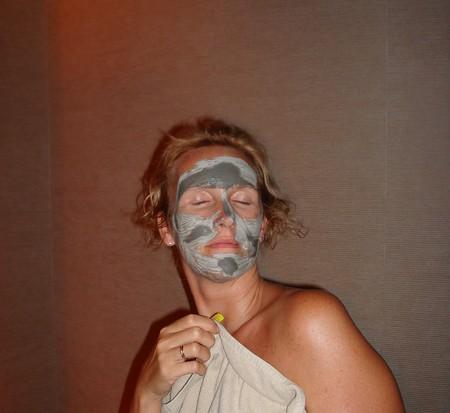 Я после пилинга с маской на лице